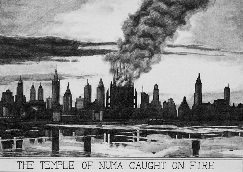 The Temple of Numa Caught on Fire